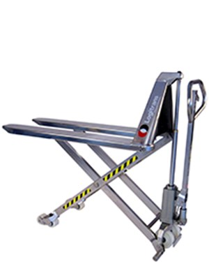 Very hygienic manual transporting and lifting to the right working height