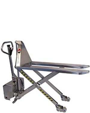 Very hygienic manual transporting and electric lifting to the right working height