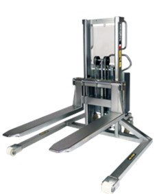 Electric stacker, Inox, with straddle legs (EHSSI)